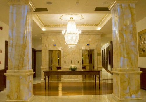 The elegant hotel hall