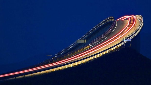 Atlantic Road at night